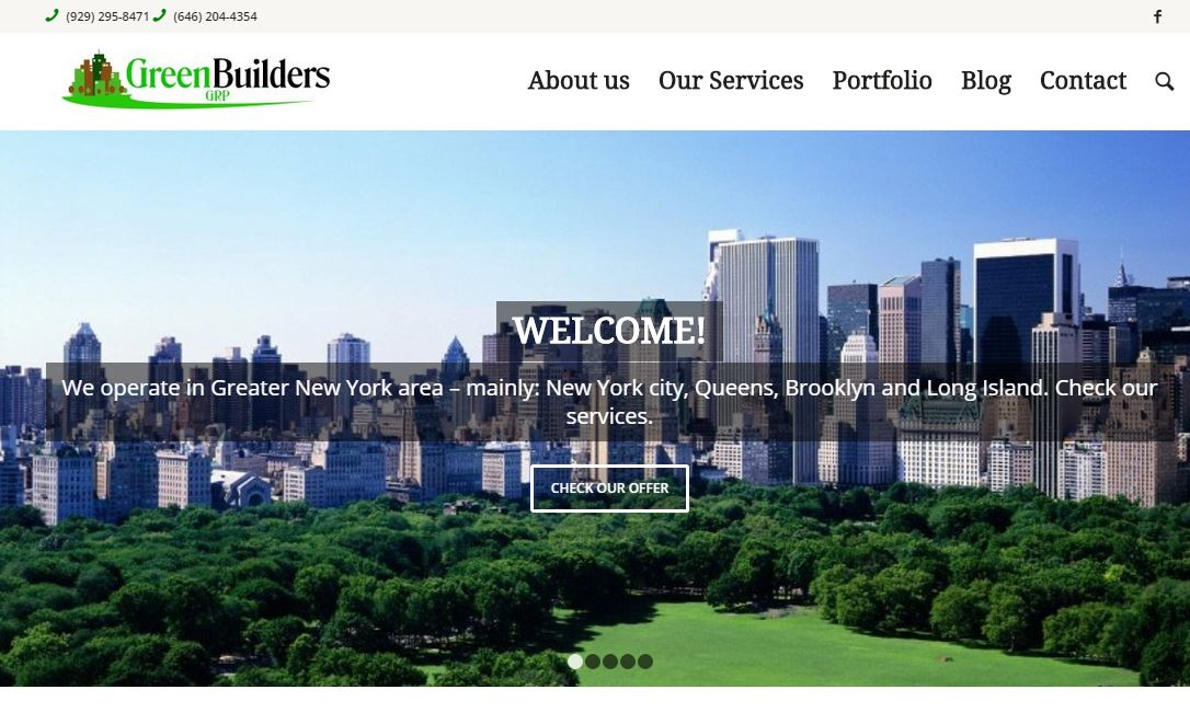 greenbuilders grp website Wordpress