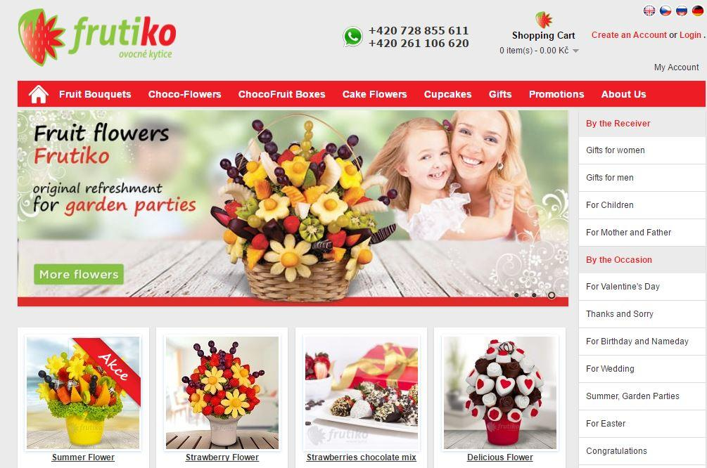 frutiko.cz online shop marketing automation