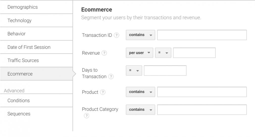 segmentacja rynku w Google Analytics
